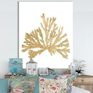 Porch & Den 'Pacific Sea Mosses IV Gold' Cottage Canvas Wall Art