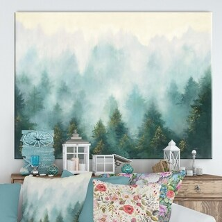 Designart ' Misty Forest' Cottage Canvas Wall Art