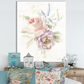 Designart 'RW Cottage Garden V' Cottage Canvas Wall Art