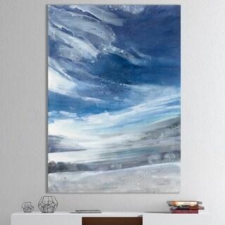 Designart ' The Lake' Modern Canvas Wall Art