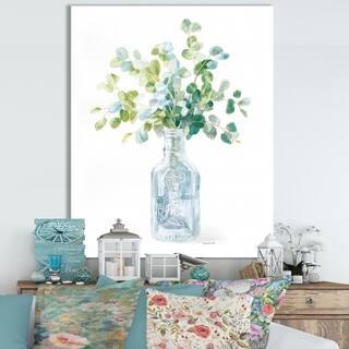Designart 'RW Beach Flowers IV' Cottage Canvas Wall Art