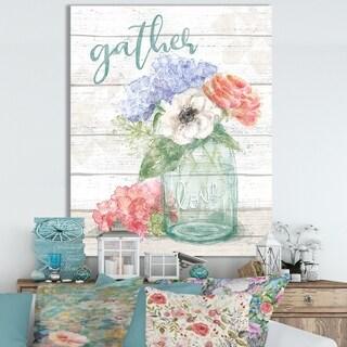 Designart 'WA Pastel Flower Market III' Cottage Canvas Wall Art