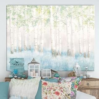 Designart 'RW Soft Birches' Cottage Canvas Wall Art