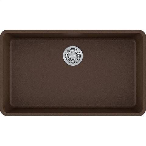 Franke Kubus 32-3/8-In Single Basin Undermount Kitchen Sink - 18.5 x 32.38 - 18.5 x 32.38