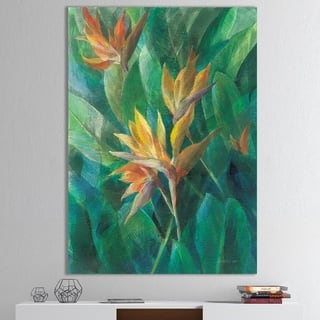 Designart 'RW Bird of Paradise II' Tropical Canvas Wall Art
