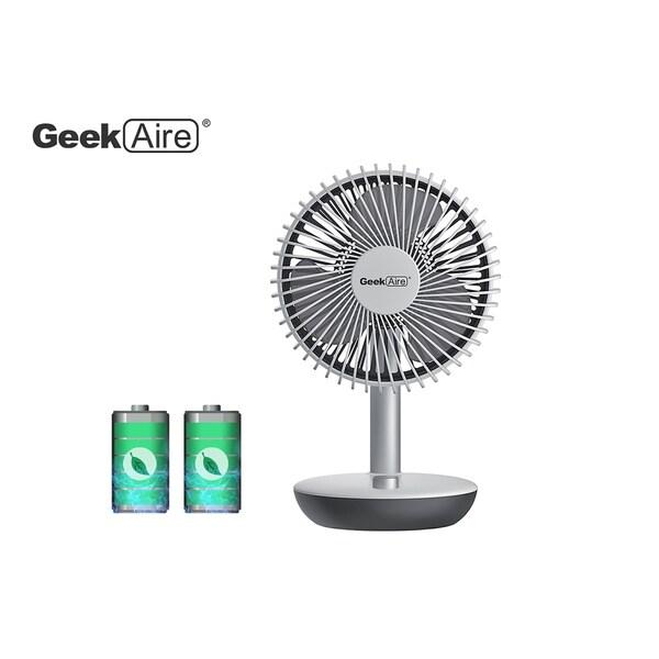 Geek Aire GF5W 6-In. Rechargeable Personal Fan White
