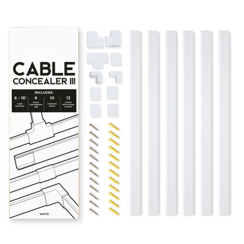 Cable Concealer III Cord Cover Raceway Kit by Maxwell Supply