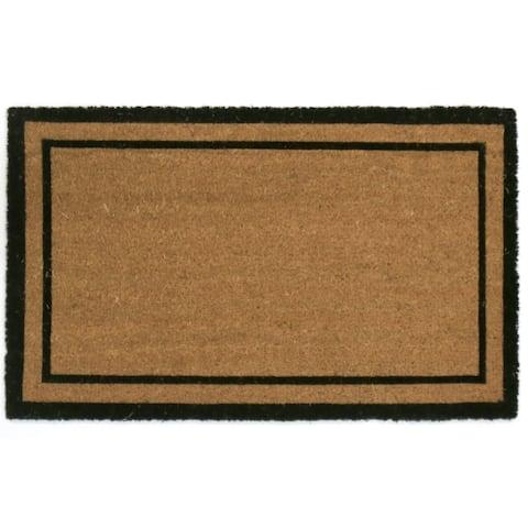 GardenPath Plain Double Border Doormat - 30W x 18L