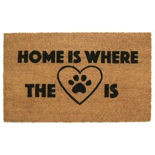 Home is Where your Heart/Paw Is Coir Door Mat