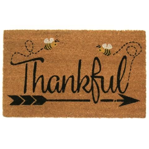Thankful Coir Door Mat - 18W x 30L