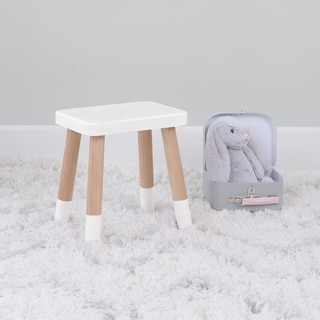 Taylor & Olive Wallflower White/ Maple Kids Chair