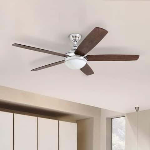 Copper Grove Mills 52-inch Modern Chrome Ceiling Fan with Remote