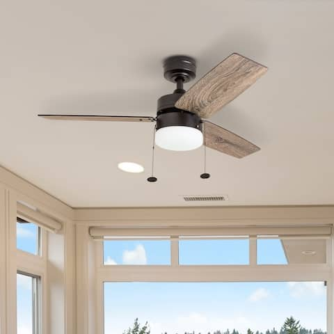 Copper Grove Glenfaba 42-inch Espresso Ceiling Fan with 3 Barnwood Blades