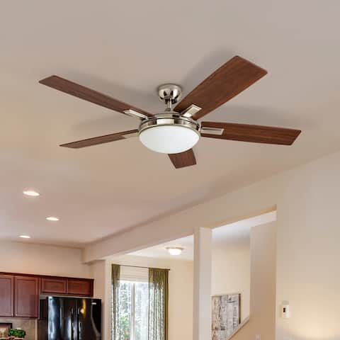 Copper Grove Garff 52-inch Brushed Nickel Ceiling Fan with Remote