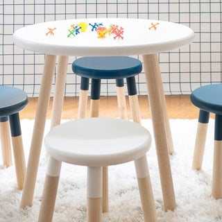Taylor & Olive Poppy White/ Maple Kids Table