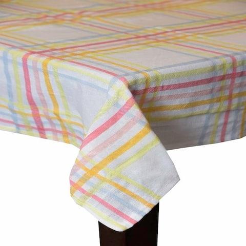 Rainbow Plaid 100 Cotton Tablecloth