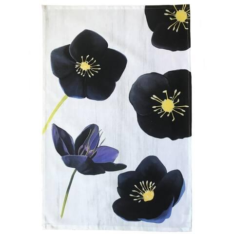 Handmade Black Hellebore on Snow Tea Towel (United Kingdom)