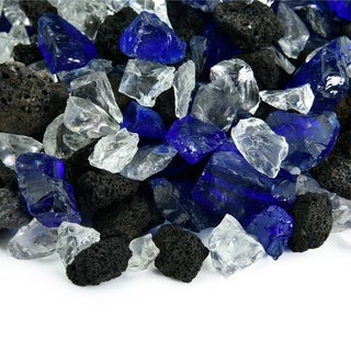 Fire Glass Lava Blends | Indoor and Outdoor Fire Pits or Fireplaces | 10 Pounds