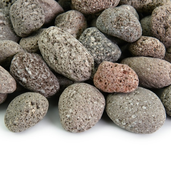 Round Lava Rock - Fireproof and Heatproof Volcanic Lava Rock, Natural Stones  10 lbs. Opens flyout.
