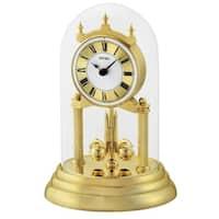 "Seiko 9"" Anniversary Clock with Glass Dome & Rotating Pendulum"