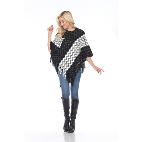 White Mark Women's Anastasia Poncho - One Size Fits Most - One Size Fits Most