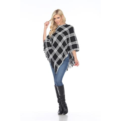 White Mark Women's Dakota Poncho