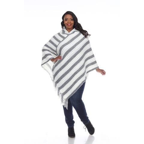 White Mark Women's Plus Size Casandra Poncho
