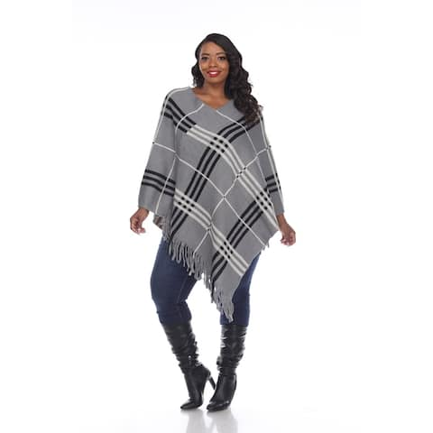 White Mark Women's Plus Size Dakota Poncho