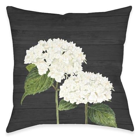 Hydrangea Bunch Outdoor Pillow