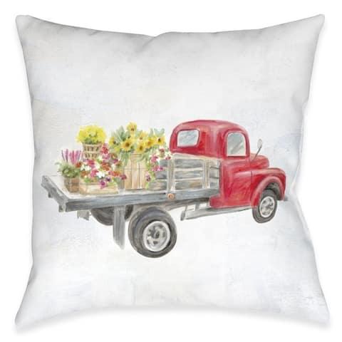 Farmhouse Truck Outdoor Pillow
