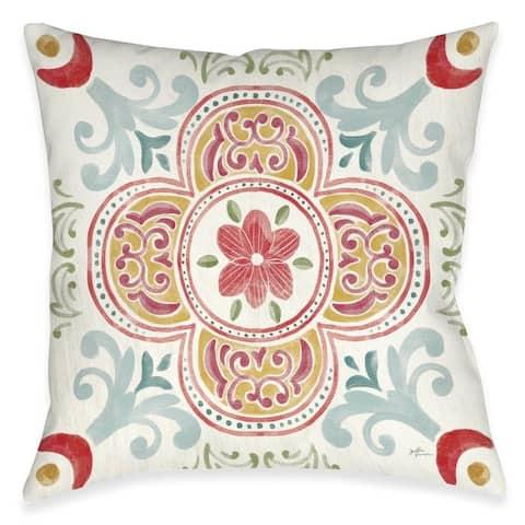 Spring Medallion Outdoor Pillow