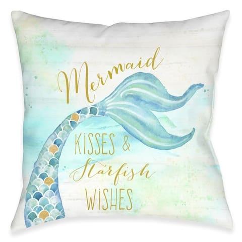 Mermaid Kisses Outdoor Pillow