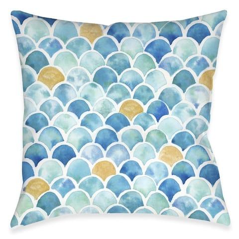Mermaid Magic Outdoor Pillow