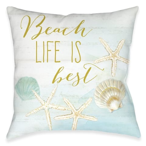 Beach Life Is Best Outdoor Pillow