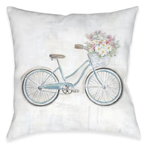 Vintage Bike Outdoor Pillow