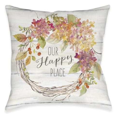 Our Happy Place Outdoor Pillow