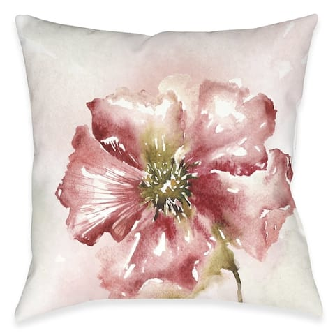 Blushing Floral Outdoor Pillow