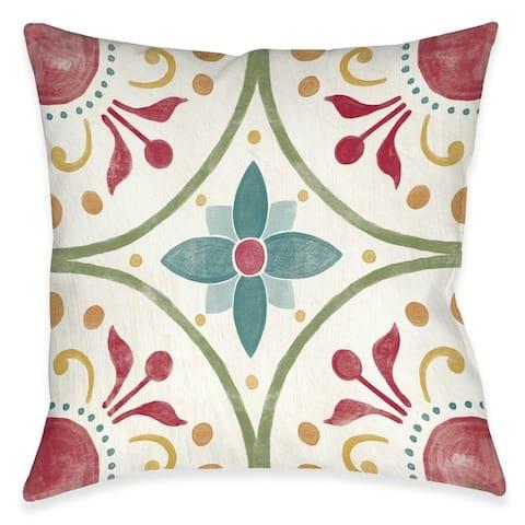 Boho Medallion Outdoor Pillow