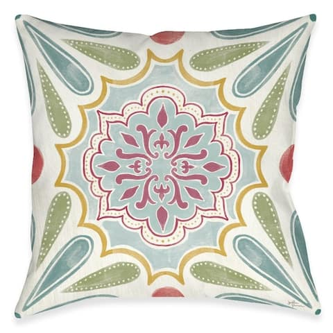 Elegant Floral Outdoor Pillow