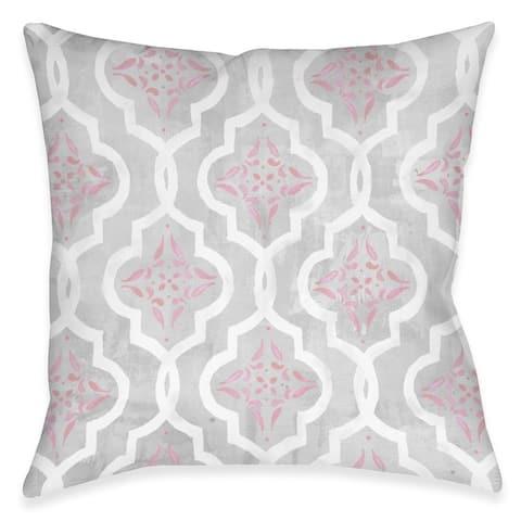 Pink Elegance Outdoor Pillow