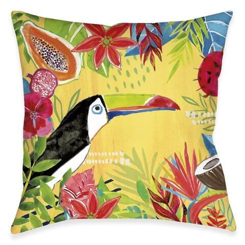Tutti Fruity Toucan Outdoor Pillow