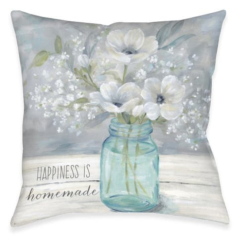 Homemade Happiness Outdoor Pillow