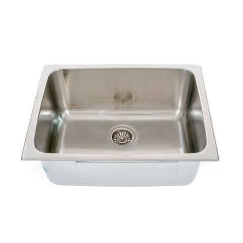 "Italia Lavendaria Series 24"" Dual Mount Stainless Steel Laundry Sink"