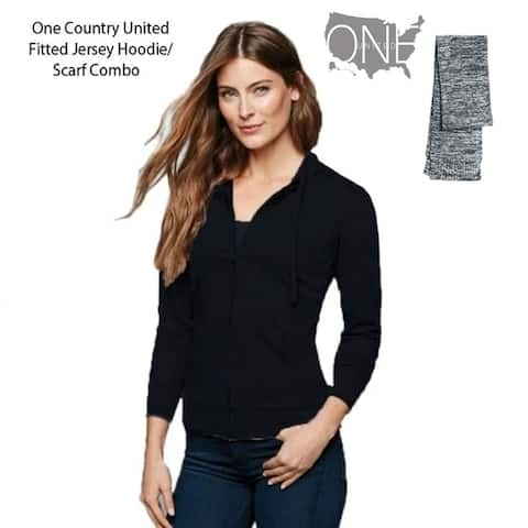 One Country United Women's Fitted Jersey Full- Zip Hoodie/Scarf Combo