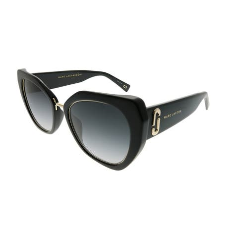 Marc Jacobs Cat-Eye Marc 313/G/S 807 9O Women Black Frame Dark Grey Gradient Lens Sunglasses
