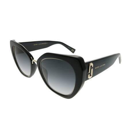 Marc Jacobs Cat-Eye Marc 313/G/S 807 9O Women Black Frame Dark Grey Gradient Lens Sunglasses