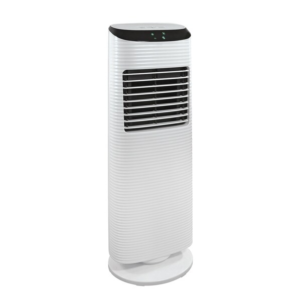 """Comfort Zone 36"""" Oscillating Tower Fan with LED Control Panel, 3 Speeds and Wide Oscillating Head in White"""