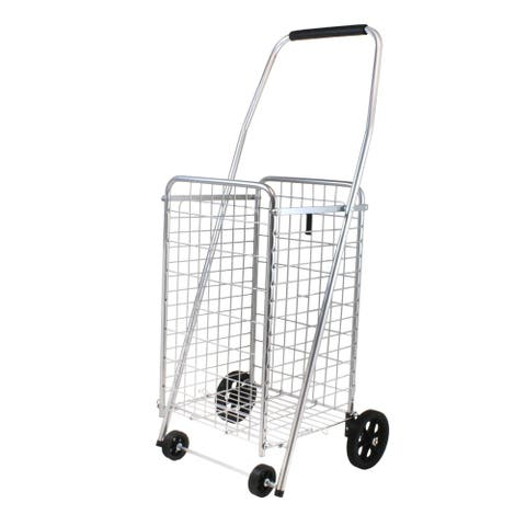 Helping Hand FQ39283 Pop 'n Shop Folding Cart with Wheels and Handle