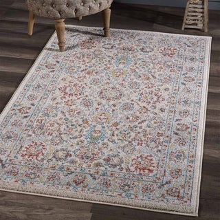Porch & Den Creekside Floral Pattern Shabby Chic Area Rug
