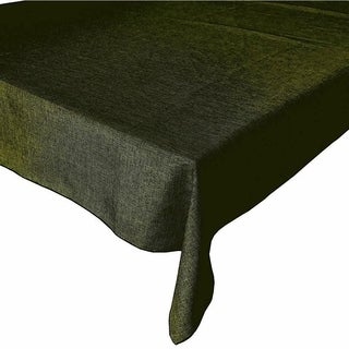 """Faux Burlap Style Polyester Woven Tablecloth 48"""" x 48"""" Olive"""